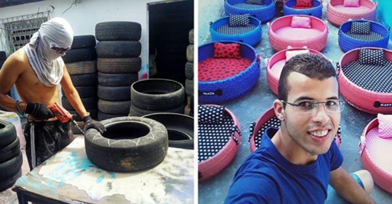 Artist Turns Old Tires Found On The