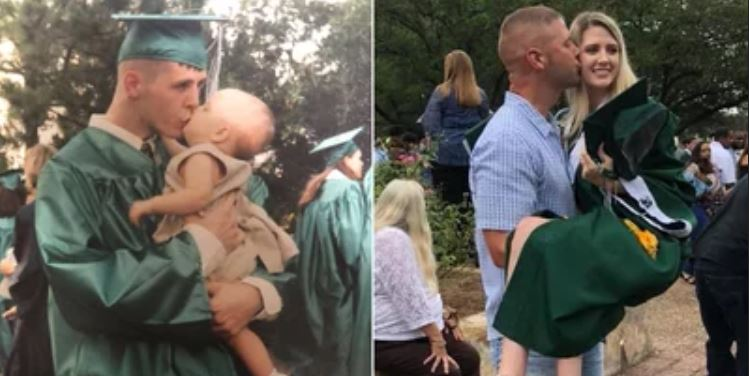 Father-Daughter Duo Recreate Dad's Graduation Picture on Her Big Day '18 Years Later'