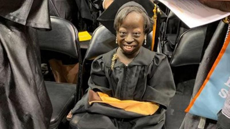 Nekhidia Harris' college graduation was more of a milestone for her than it might have been for most.