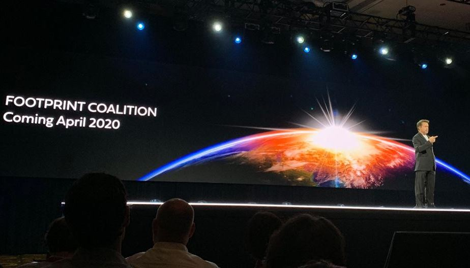 """Robert Downey Jr. announced the """"Footprint Coalition"""" at Amazon's re:MARS conference in Las Vegas."""