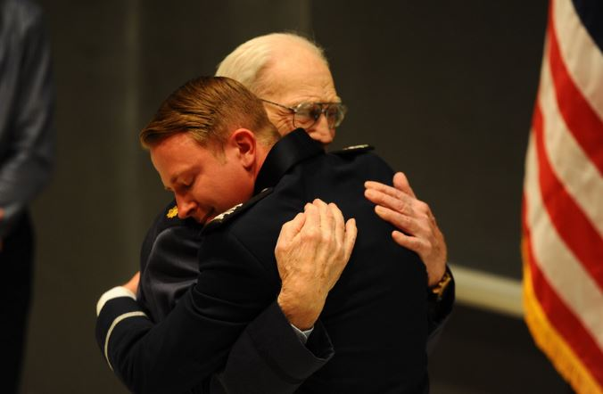 Joseph Kloc was commissioned by his grandfather Walter Kloc on May 29, 2019. (Photo: US Air Force Academy)
