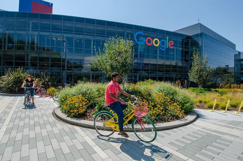 Google HQ Office in Mountain View, CA.