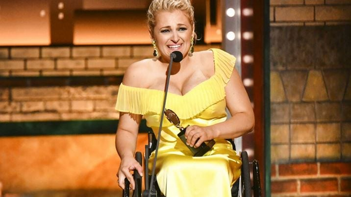 "Ali Stroker, 31, made history on Sunday night when she won a Tony Award for her role in ""Oklahoma!"""
