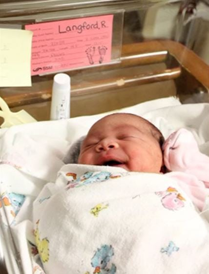 J'Aime Brown the Majical baby born on 7-Eleven Day, at 7:11pmand weighed 7lbs 11 ounces.