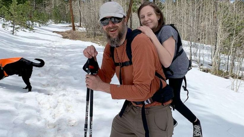 Melanie Knecht was born with spina bifida and Trevor Hahn lost his sight to glaucoma five years ago, but that doesn't stop them from climbing mountains together.
