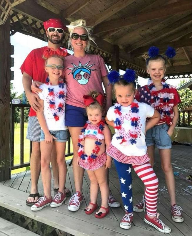 Sidney and Leighton Tate with Sisters Evelyn, 4, Mary Anson, 11, Eleanor, 7 and Susanna Tate, 11, are raising money in hopes to help pay for the adoption of their fifth sibling.