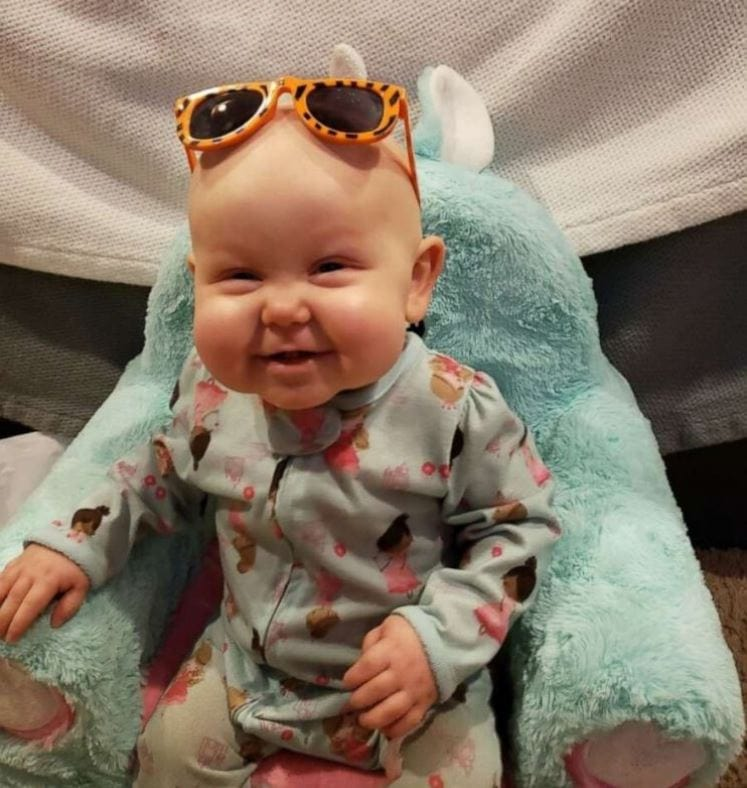 """Alle Jilg was born with severe combined immunodeficiency (SCID), also known as rare """"bubble boy"""" disease. Because of her disorder, Alle is vulnerable to any mildly infectious diseases."""