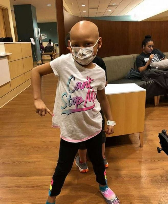 Zoe Figueroa, 8, celebrated being cancer-free with a birthday party-turned charity event in California to help her friends who are fighting the same fight that she fought and won.