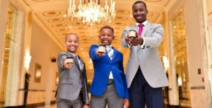 Three young brothers started a candle company to buy themselves toys. Now they donate $500 a month to the homeless.