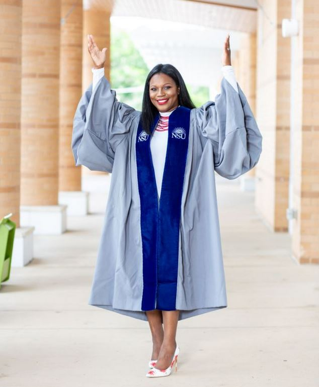 Perkins graduated from Nova Southeastern University with her PhD on June 14. (Photo courtesy of Yolanda Perkins)