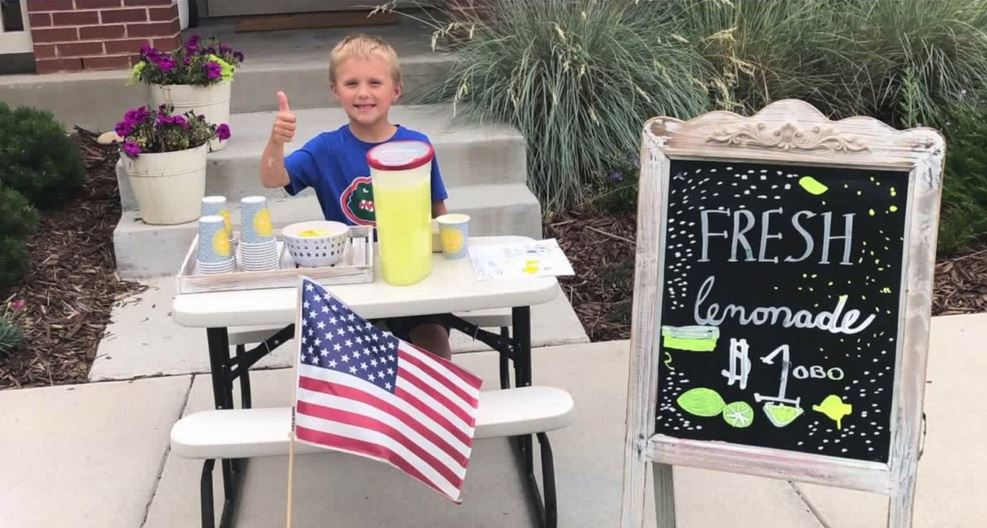 After dad's death, 6-year-old Colorado boy sells lemonade to pay to take mom on date