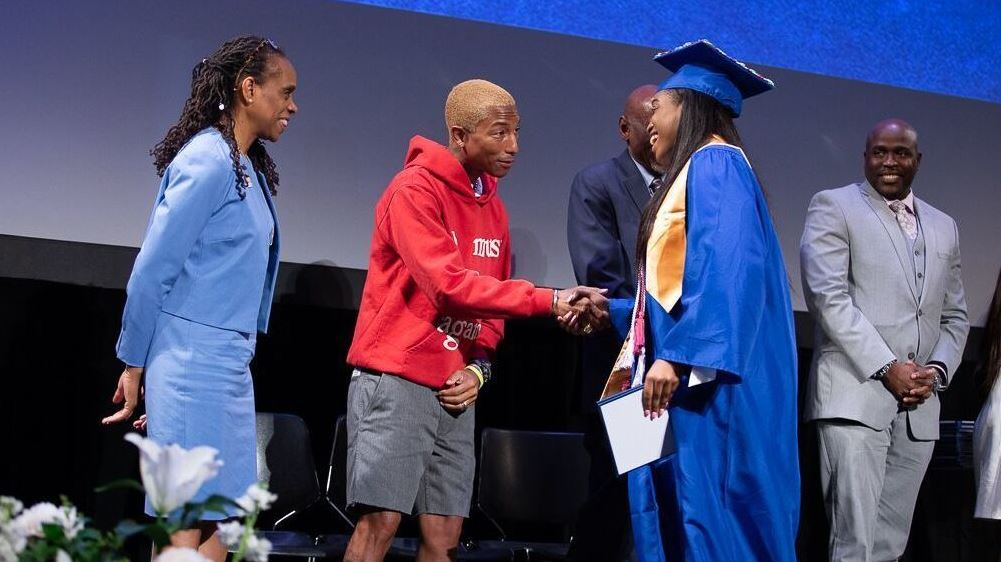Pharrell Williams Grants 114 Harlem Grads An Internship.
