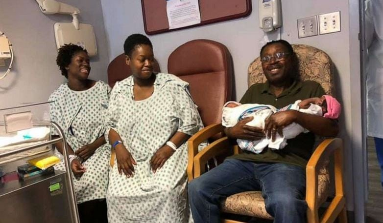 Sisters give birth to girls at same hospital, on same day which happens to be their dad's 70th birthday