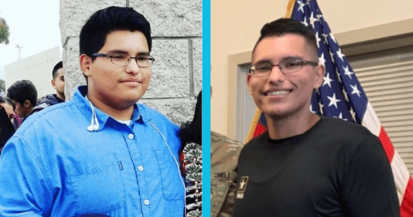 Patriotic and driven 18-year-old loses 113 pounds just so he can enlist in the US Army.