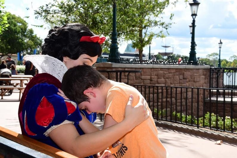 'It Was True Magic' - Snow White uses Disney magic to calm boy with autism who was having a meltdown.