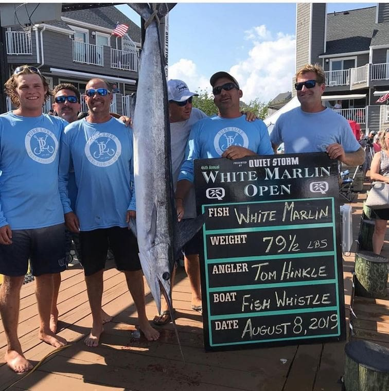 A high school math teacher became the first repeat winner of the world's largest billfish tournament.
