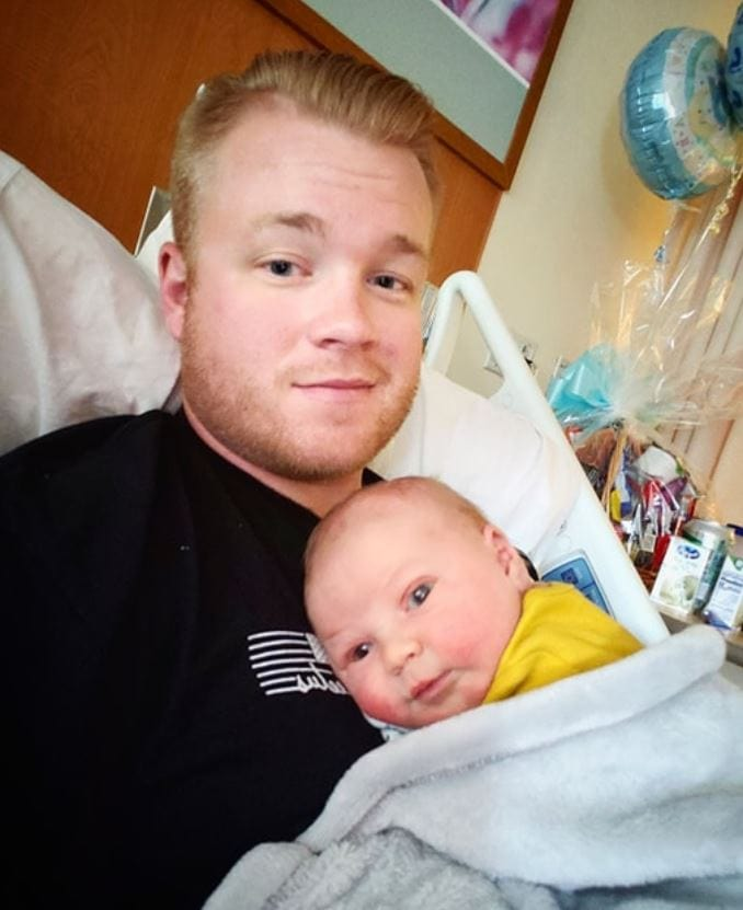 After a canceled flight, stranger drives National Guard sergeant 8 hours so he could make it for his son's birth. Credit: Seth Craven - Source: WV Metro News