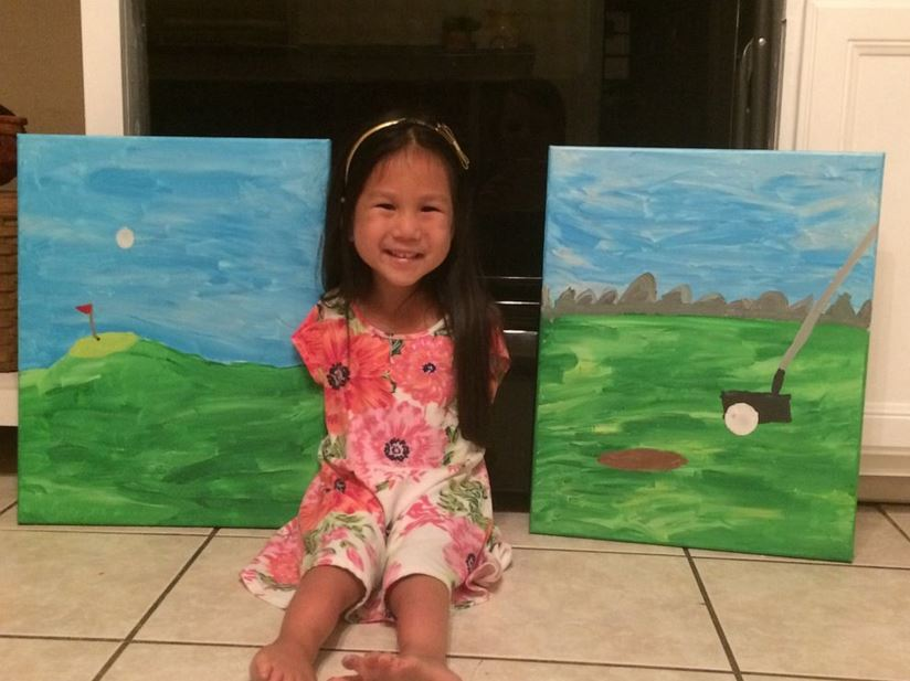 Girl born without arms creates colorful paintings all by herself.