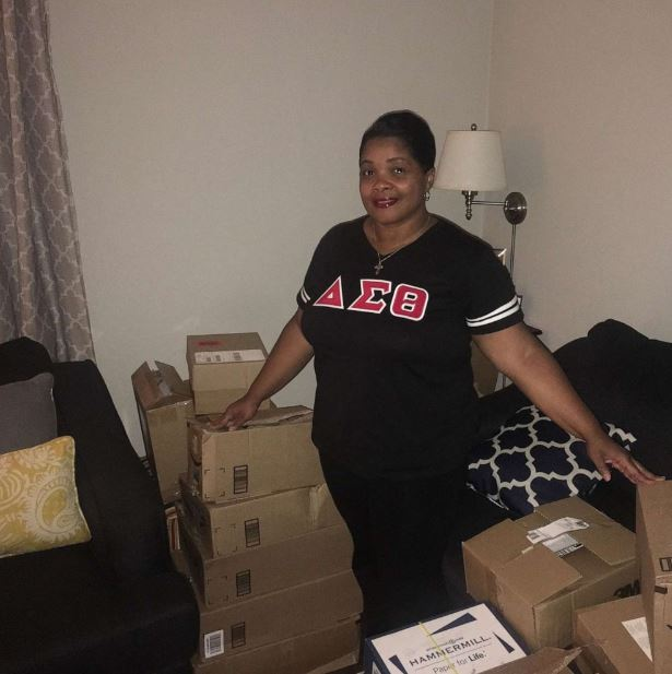 Her sorority sisters responded to a message she put out on Facebook when she realized she didn't have all the resources she needed for her students.