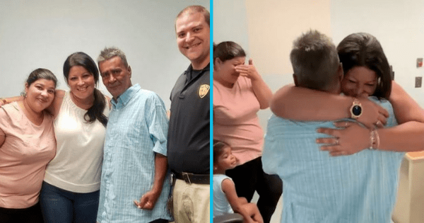 Homeless father has emotional reunion with adult daughters after 24 years apart.