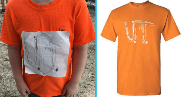 University of Tennessee makes boy's homemade shirt into official design after he was bullied at school.