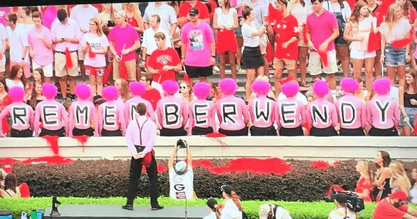 Pure Class - Georgia Bulldogs honor Arkansas State head coach's late wife with 'Pink Out'.