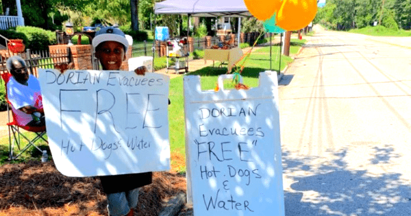 6-year-old gives up birthday trip to Disney to help feed Hurricane Dorian evacuees instead.