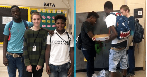Caring high school students donate clothes and shoes to classmate bullied for wearing same outfit every day. Source: Martin Luther King Jr. College Preparatory High School