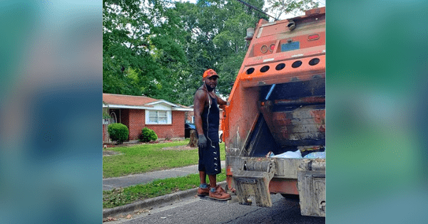 Every week, sanitation employee brings trash can back to the door of an elderly woman with limited mobility