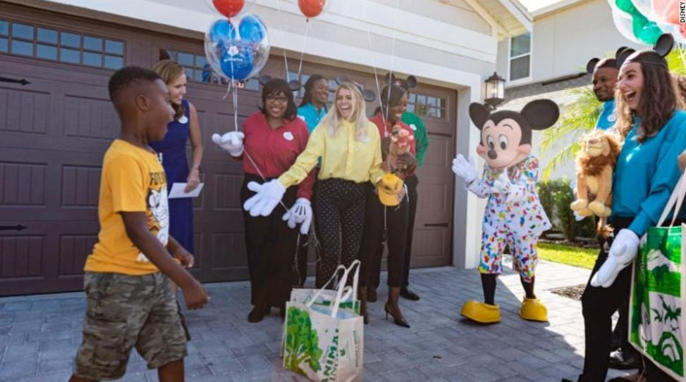 Boy who used his Disney trip money to feed Hurricane Dorian evacuees got surprised with dream Disney vacation