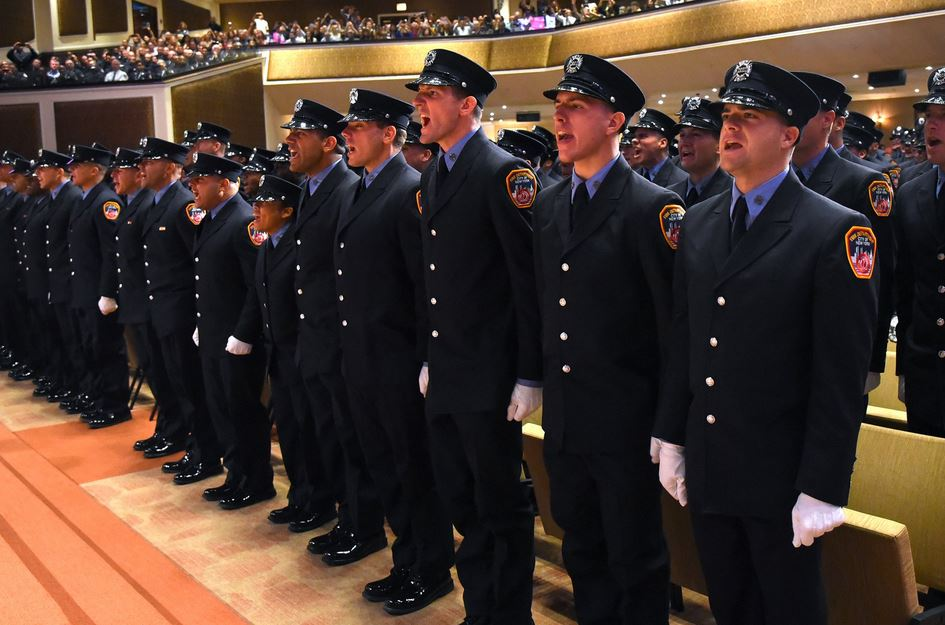 13 children of fallen 9/11 firefighters continue the family legacy by graduating from FDNY Academy. Credit: FDNY