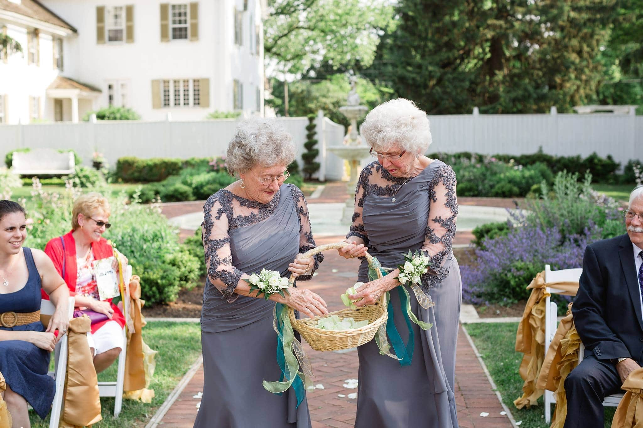 Bride & Groom's Grandmothers Team Up As Flower Girls to Bring Special Meaning to Wedding.