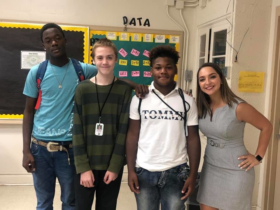 Caring high school students donate clothes and shoes to classmate bullied for wearing same outfit every day.