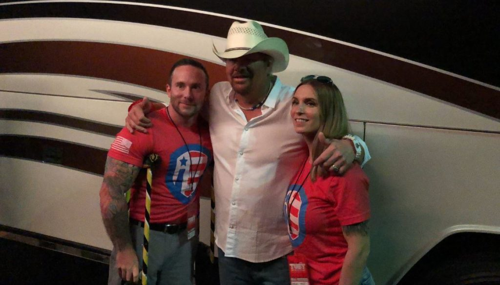 Toby Keith teams up with veteran nonprofit to give all-terrain wheelchair to marine who lost both his legs. Credit: The Independence Fund