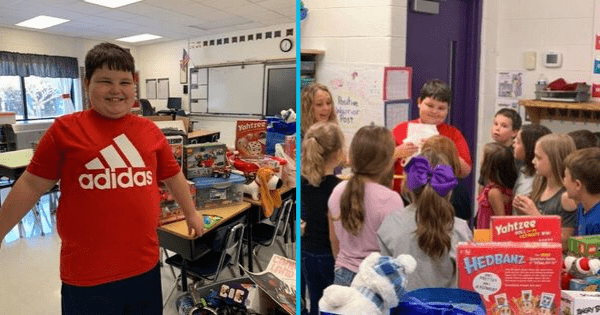Elementary school students organize toy drive for classmate who lost everything in a house fire. Credit: Philadelphia Elementary School