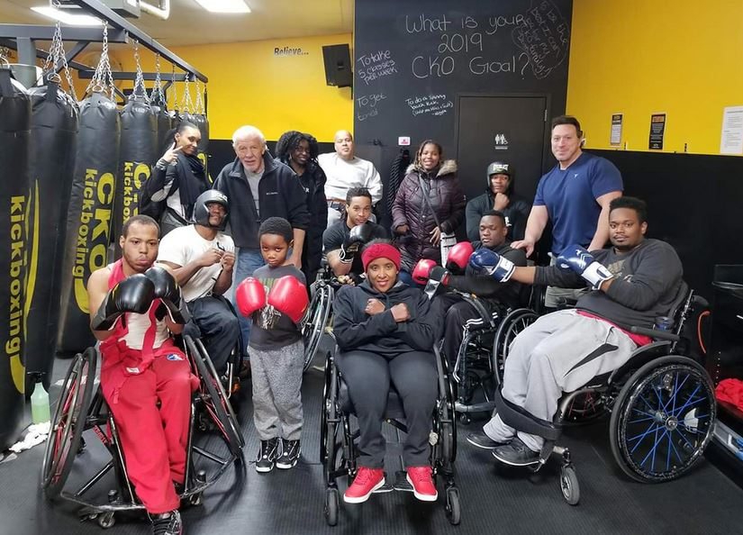 Double amputee overcomes severe depression by learning to box - now he's helping others with disabilities. Credit: Donahue Fields
