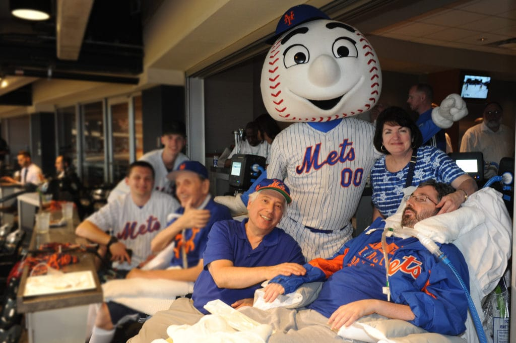 Nursing home patients who haven't left the facility in 3 years, attend baseball game.