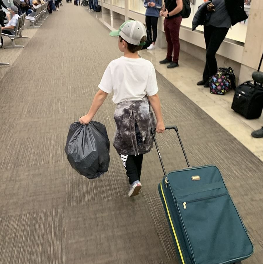 Amazing 10-Year Old Boy Inspires Frontier Airlines Crew to Recycle