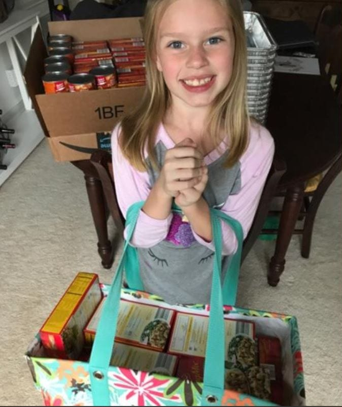Compassionate 9-year-old raises enough money to buy over 100 thanksgiving dinners for families in need.