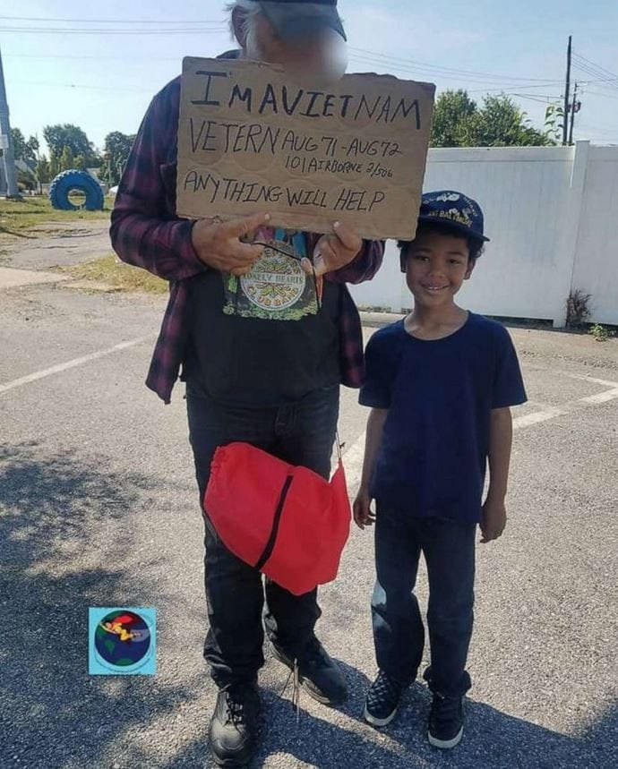 "8-year-old ""superhero"" with a heart of gold raises over $50k to help homeless veterans in need."