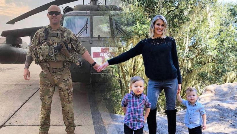 Mom of two brilliantly edits annual Christmas card to include military husband who's serving overseas.