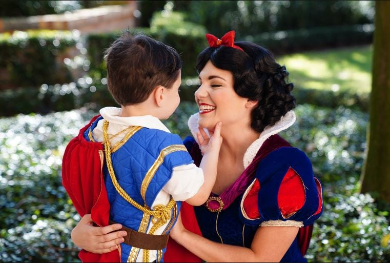 Boy with autism who's usually shy, completely opens up and has the sweetest reactions around Disney princesses.