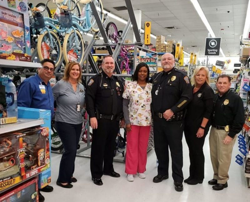 Florida police department surprised 26 families this holiday season by paying off their layaway accounts.