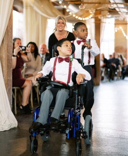 Teacher who was deeply impacted by three of her special needs students invited them to be in her wedding
