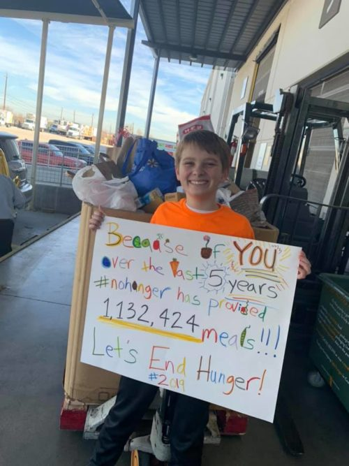 A 12-year-old raised enough money over a 5-year period to provide 1 million meals to Central Texas Food Bank.