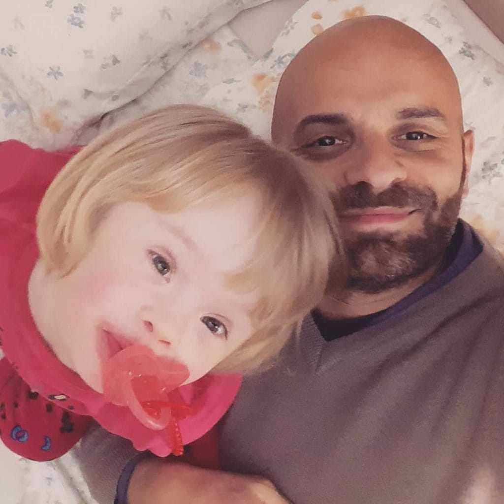 Single gay dad adopts girl with down syndrome who was rejected by 20 families. Courtesy of Luca Trapanese