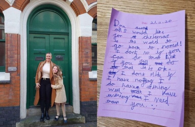 8-year-old girl writes heartwarming letter to Santa asking for things to return to normal