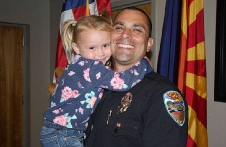 Arizona police officer adopts little girl he connected with while on child abuse call